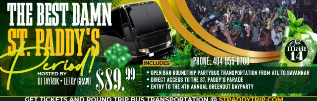 St. Paddy's Party Bus & Day Party in Savannah | Party Bus to and from Atlanta