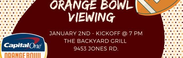 Orange Bowl Viewing @ The Backyard Grill