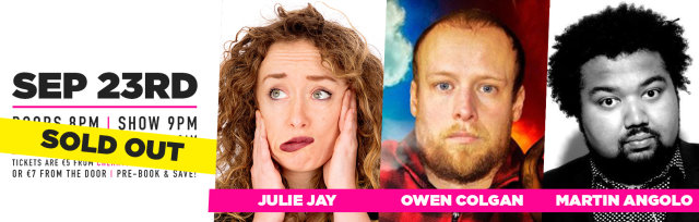Cherry Comedy at Whelan's with Julie Jay & More!