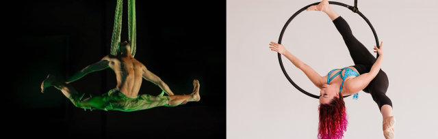 Aerial Masterclasses Alexandre Duarte (Aerial Silks) & Kathleen Doherty (Aerial Hoop) Pitch'd Circus Arts Festival