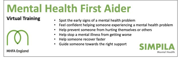 Mental Health First Aid (Matthew Mason-Hames) - Only £235 + VAT