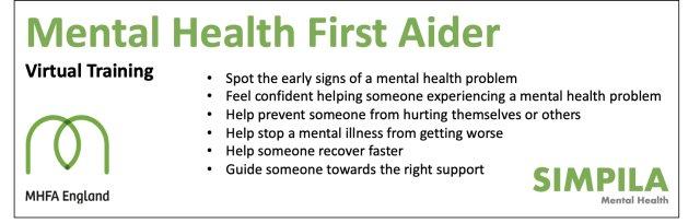 Mental Health First Aid (Jane Webber) - Only £225 + VAT