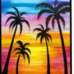 Tropical Sunset Family Friendly Class image