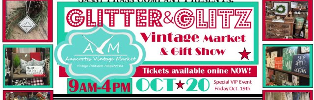 VIP Evening event -GLITTER & GLITZ- Friday Oct 19th- $20 (Vip ticket allows FREE into Saturday shopping also!)