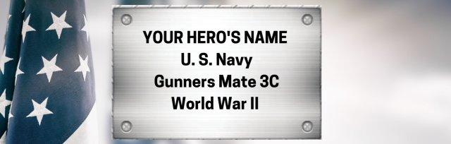 Hero Memorial Commemorative Nameplates