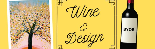 Wine & Design: Abstract Glitter Painting (BYOB - Drink & Draw)