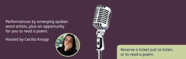 Poetry open mic (12.30-2pm)