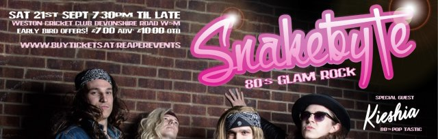 80's Glam Rock Night with Snakebyte & Kieshia!