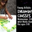 Young Artists Painting/Draw Classes 5-10yr image
