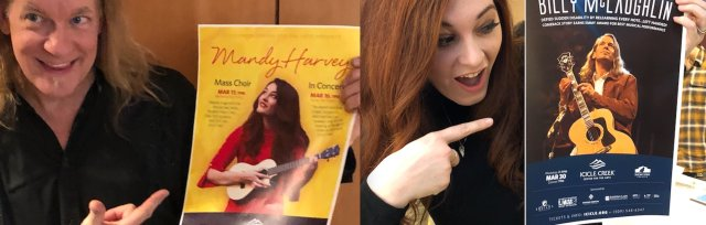 INSPIRATION & HOPE: Mandy Harvey and Billy McLaughlin in concert at Morgan Performing Arts Center