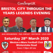 Bristol City through the years Legends evening - RESCHEDLED image