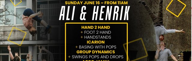Partner Acro Training Special with Ali & Henrik: Sunday June 16th, 11am - 7.30pm