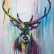 Drippy Deer Painting image