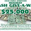 Syria Shriners Holiday Cash Give-A-Way image