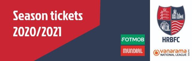 Season Tickets 2020/21 - Hampton & Richmond Borough FC