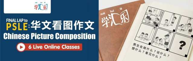 Final Lap to PSLE: Chinese Picture Composition (6 Live Online Class)