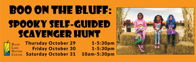 Boo on the Bluff: Spooky Self-Guided Scavenger Hunt!