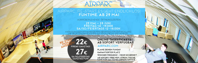AIRPARC ZILLERTAL TAGESTICKET - AIRPARC RE:START ANGEBOT