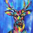 WEIHNACHTS artbird party ONLINE | Hirsch Pop Art image