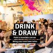Drink & Draw Dublin: Paint A Mandala Canvas image