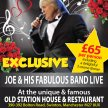 Joe Longthorne MBE Live at unique & famous Old Station House & Restaurant image