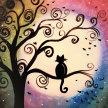 """Let's Paint """"Meditative Cat"""" image"""