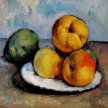 Still Life with Apples in the style of Paul Cezanne. image