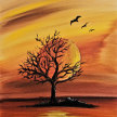"Let's Paint ""Tree and Sun"" image"