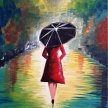 """Let's Paint """"Lady in Red"""" image"""