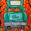 Fall Truck Canvas image