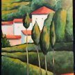 Paint 'Landscape, Southern France' in the Style of Modigliani - Online image