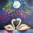 "Let's Paint ""Just Swan Love"" image"