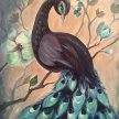 Brunch & Paint! Beautiful Peacock at 2pm $35 image