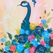 Peahen Bouquet Brush Party - Online image
