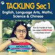 Tackling Sec 1 English/Language Arts, Maths, Science & Chinese @ MS Central Campus image