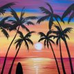 Paint & Sip! Surfs up at 7pm $25 Upland image