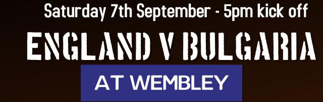 England v Bulgaria - 7th September 2019