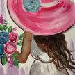 Paint & Sip!Garden Girl at 3pm $23 Upland image