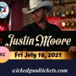 Justin Moore, Fri July 16, 2021 $62. image