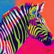 artbird party im Atelier I Zebra Pop-Art image