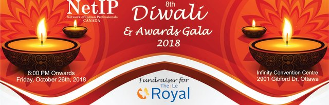 8th NetIP Diwali Fundraiser & Awards Gala for The Royal (Youth Mental Health)