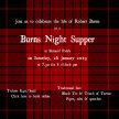 Burns Night Supper £40/tkt 7.30pm Saturday, 26 January image