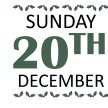 SUNDAY 20TH DECEMBER image