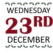 WEDNESDAY 23RD DECEMBER image