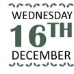 WEDNESDAY 16TH DECEMBER image