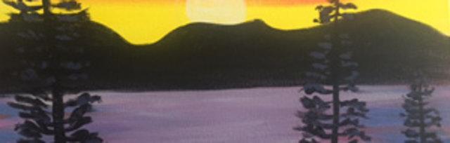 Paint & Sip! Lake Tahoe at 3pm $29 Upland