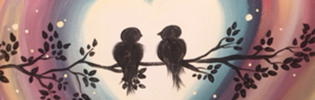 Paint & Sip! Love Birds at 7pm $29 Upland