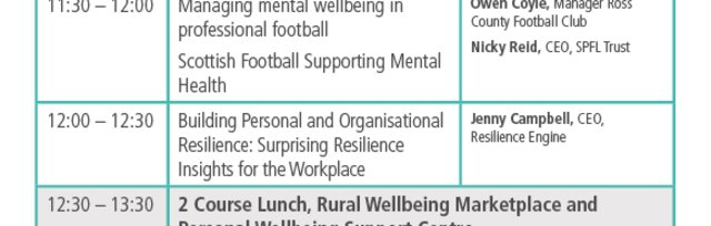 Rural Wellbeing: Building Resilience Together Conference