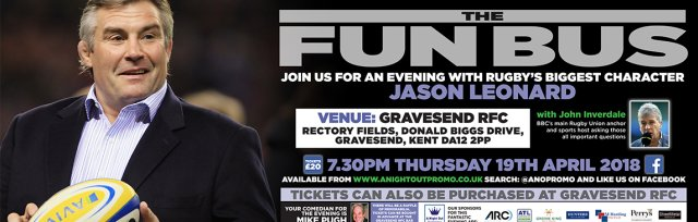 An Evening with England Rugby Legend Jason Leonard and BBC Anchor John Inverdale