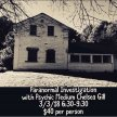 Haunted Hinsdale House ghost hunting evening with psychic Chelsea Gill image